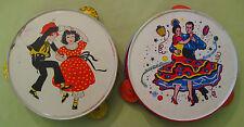 Vintage 1940s Kirchoff Tambourines-- Bundle of 2