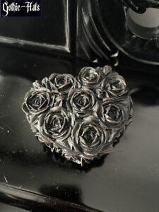 Rose Heart Box ~ Alchemy Trinket Box Gothic Witchy Gift New In Box
