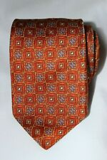 Hickey Freeman Tie Brown 100% Silk