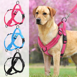 Reflective Front Clip No Pull Pet Dog Harness Soft Mesh Padded Vest Medium Large