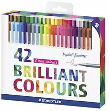 Staedtler Triplus Fineliner 334C42Assorted Colour Set Of 42 Pens With For