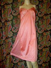 Vintage Sears Coral Plus Size Silky Nylon Empire Slip Nighty Lingerie 42