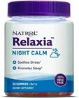 3 PACK - Natrol Relaxia Night Calm Gummies - 50 count - Berry - best by 3/2022