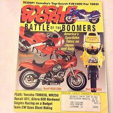 Cycle World Magazine Honda RC31 Buell RSS1200 Ducati August 1992 061917nonrh