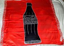 COCA-COLA SCARF 100% SILK Designer CHARLOTTE SPARRE Denmark *RARE* ONLY 1 FOUND!
