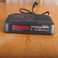 Sony Dream Machine Alarm Clock AM/FM Radio ICF-C25 Tested Works