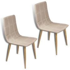 B-Ware Esszimmerstühle Küchenstühle 2er Set Essstühle Stuhl Stoffbezug Beige