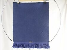 Geiger Collections Unisex Winter Scarf Blue Fringe Pure Wool Austria One Size