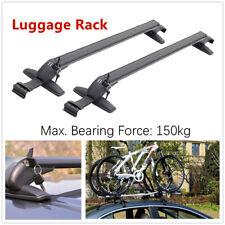 2*Car SUV Roof Rail Luggage Racks Baggage Carrier Cross w/Anti-theft Lock Curved