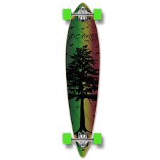 Yocaher Pintail Longboard Complete - In the Pines : Rasta