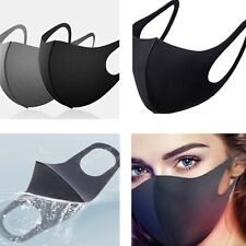 5 Pcs Face Mask Reusable Washable Adult Unisex Black Mouth Face Cover Mask