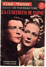 CINE-MIROIR 3 LA CHARTREUSE DE PARME GERARD PHILIPPE RENEE FAURE