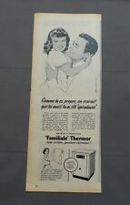 PUB PUBLICITE ANCIENNE ADVERT CLIPPING 220517/ MACHINE A LAVER SPIRALAVE THERMOR