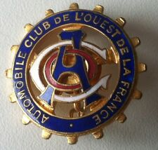Automobile Club de l'Ouest de la France Distintivo Spilla Smaltato del 1900