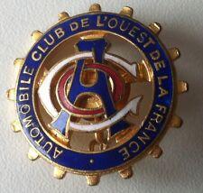 Automobile Club de l'Ouest de la France Distintivo Spilla Smaltato del 1900