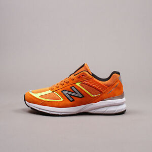 New Balance Made in USA 990v5 Orange Pigskin Men Shoes Lifestyle Running M990OH5