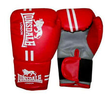 NEW LONSDALE CONTENDER TRAINING BOXING GLOVES SIZE S/M RED WORKOUT HIGH IMPACT
