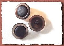 4 BOUTONS noir mat et marron translucide * 23 mm 2,3 cm * pied * Button sewing
