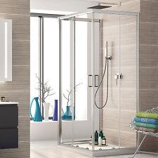Cabina doccia tre lati 70x90x70 cristallo temperato trasparente porta scorrevole