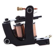 Pro Top Quality Black Carbon Steel Tattoo Machine Gun 8 Wraps Coils Liner Shader