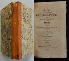 P/ THE LIVES OF ENGLISH POETS Samuel Johnson 1815 (COWLEY MILTON DORSET OTWAY..)