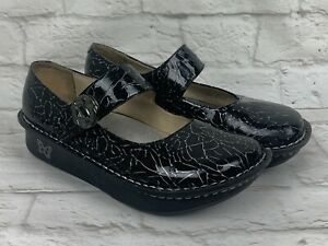 Alegria Women's Size 37 Shinny Black PAL-541 Clogs Mules Nurse Professional Shoe