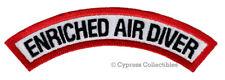 ENRICHED AIR DIVER CHEVRON SCUBA DIVING iron-on DIVE CERTIFICATION PATCH NITROX