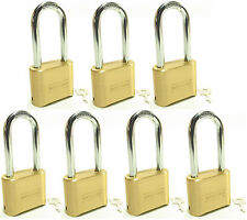 Lock Brass Master Combination #175LH (Lot of 7) Long Shackle Resettable Secure
