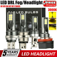 H1 H11 H4 H7 LED Headlight Foglight 110W Car Bulbs Kit 3000k HID Decoder Canbus@