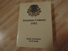 Estonia official coinset 1992, including rare 1 krooni 1992