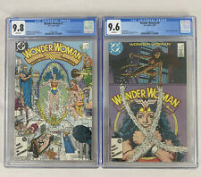 Wonder Woman 🔥 #7 CGC 9.8 & #9 CGC 9.6 1st Cheetah! DC Comics 1987!
