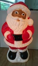 """Vintage Grand Ventures 18"""" Blow Mold African American Lighted Santa Claus 1999"""