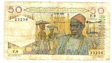 AFRIQUE OCCIDENTALE AOF FRENCH WEST AFRICA TOGO 50 FRANCS 5/10/ 1955 P44 RARE