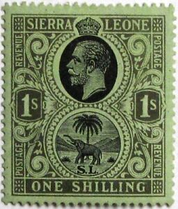 1921-27 SIERRA LEONE #134: VF MVLH 'KGV and Seal of the Colony' - from the set