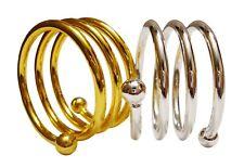 Silver Gold Spiral Napkin Rings Decor Holder Wedding Gloss Dinner Table Metal UK