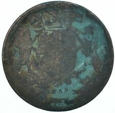 1858 / HALF ANNA / BRONZE /  EAST INDIA BEAUTIFUL COLLECTIBLE COIN  #WT31562