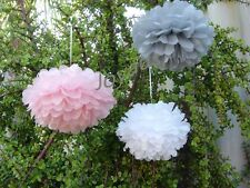 18x paper pom poms engagement wedding party baby shower venue events decoration