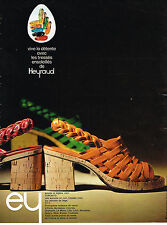 PUBLICITE ADVERTISING  1974    HEYRAUD  chaussures