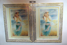 "A SET OF 2 PICTURE FRAMES 3 1/2"" X 5"" COLO IVORY W/GOLD RESIN FRAME TRADITIONAL"