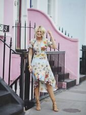 Topshop Blue Floral and Star Print Wrap Dress, UK Size 10 New