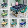 Ramadan Eid Mubarak Muslim Dining Table Cloth Waterproof Table Cover Home Decor