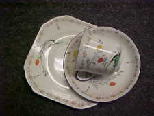 Shelley Queen Anne Art Deco Trio Cup, Saucer & Plate
