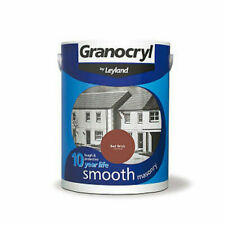 Granocryl Leyland 5L Litres Smooth Masonry Outside Outdoor Paint Red Brick