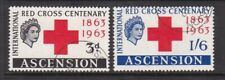 ASCENSION 1963 RED CROSS SET FINE USED