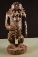 8083 Africain Vieux Bulu Singe Figurine Cameroun Afrique