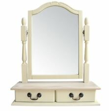 Juliette Champagne Trinket Mirror. Cream mirror with 2 drawers.Free standing