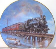 Hamilton Collection - Rails By The Seashore Collector Plate