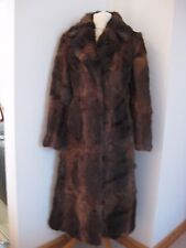 Vintage Real Rabbit Fur Coat - size 10