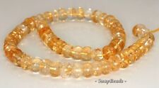 11X7-10X5MM  CITRINE QUARTZ GEMSTONE RONDELLE LOOSE BEADS 7.5""