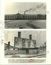 Press Photo Remains of buildings in Harbin, China, used during World War Ii